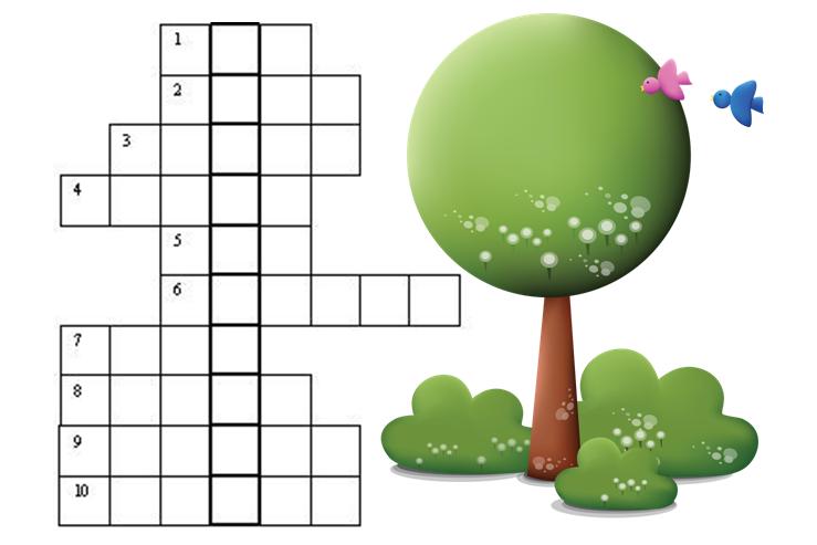 Кроссворд ребенку о растениях для урока биологии 5 класс